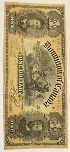 Canada  1898 One Dollar Dominion of Canada Misaligned Serial Number *RARE*