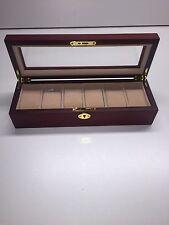 wooden watch box - 6 watches holder