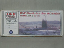 OKB Grigorov 1/700 Scale HMS Resolution Class Submarine,  Resin Waterline Model