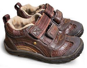 new Stride Rite BB39580 SRT Landon Brown Infant Toddler boys walking shoes