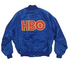Vintage HBO Satin Bomber Jacket Size XL 1980s 1990s Home Box Office Boxing Promo