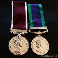 GSM Northern Ireland & Army Long Service LSGC Medal WW2 Military EIIR SET Repro