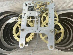 Antique Wm L Gilbert 8 Day Kitchen,  Shelf Clock Movement Parts