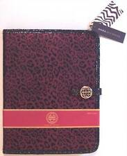 NWT Dana Buchman Red & Black Metallic Leopard Animal Print Snap Tablet Case, $60