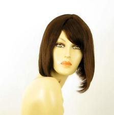 Perruque femme 100% cheveux naturel châtain ref CAMILLE 6