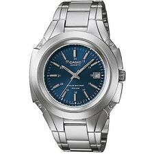 Casio Men's Silvertone Bracelet Watch, Date, 50 Meter, Blue Dial, MTP3050D-2AV