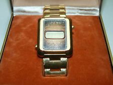 Vintage Mido LCD Men's Watch Gold Wristwatch Never Used w/Box Rare Swiss