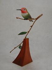 Anna's Hummingbird Original Wood Carving