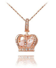 Gifts For Women Necklace Pendant Girl Jewelry 18K Rose Gold Plated New