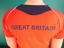 ADIDAS TEAM GB ISSUE -TRAINING FOR RIO 2016 - ATHLETE RED EVENT TEE SHIRT