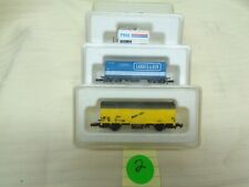 (3) Marklin Miniclub Z Scale Freight Car Trains No Model Numbers MINT