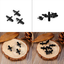 100pcs Double Ways Barbed Joiner 5mm Screw Thread Micro Drip Irrigation System M