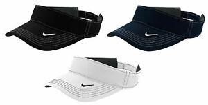 Nike Dri-FIT Swoosh Visor Men's Adjustable Strapback Cap Authentic Hat Golf S