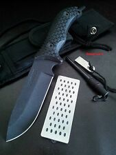 Schrade SCHF36 Extreme Survival Knife +Ferro Rod &Hone Bushcraft,Camp,Hunt,Knife