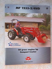 2000 MASSEY FERGUSON 2/4WD 1233 COMPACT TRACTOR 4 PAGE BROCHURE