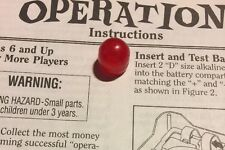 OPERATION 1997 Replacement Game Piece Body Part- Red Nose Cap Only