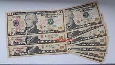 MONETA DOLLARO statunitense * serie di $10 TEN DOLLARI IN CONTANTI UNC