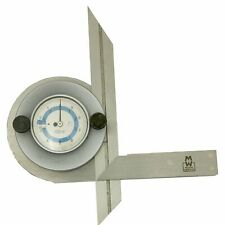 Moore and Wright Indicator Bevel Protractor Dail Display Hardened Steel MW510-01