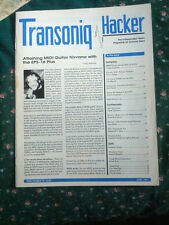 Transoniq Hacker  June 1991  Vintage Magazine for Ensoniq users issue # 72