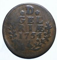 1754 Dutch Republic (Gelderland) One 1 Duit - Lot 513