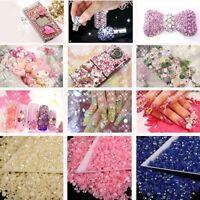 2000Flat Back Rhinestones Acrylic Gems Diamante Crystals For Craft / Nail Art3MM