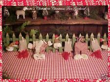 Primitive SANTA CLAUS Suit on Laundry Clothes Line GARLAND for Country XMAS Tree