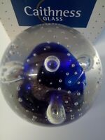 CAITHNESS GLASS SCOTLAND A BOXED MAGNUM GOLDRUSH GOLD DUST PAPERWEIGHT NEW