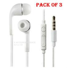 3x In-Ear Earphones Headphones Earbud+Mic+Play/Pause Button Phone Tablet 3.5mm