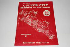 Midget Auto Races Program, Culver City Speedway, Sept 5 1947, Original #3