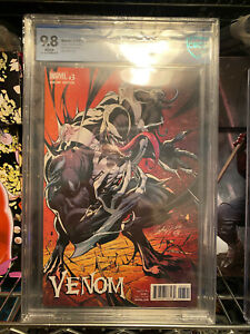 Venom #3 J Scott Campbell Virgin Variant 1:100 CBCS 9.8