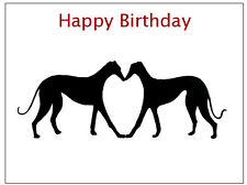 Birthday Card Greyhound Whippet Lurcher Italian Cards Gift - CUSTOM TEXT - Gifts