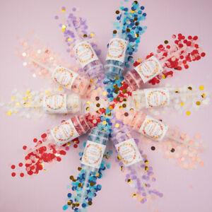 1Pc Party Confetti Poppers for Wedding Happy Birthday Flower Mini Round Confetzh