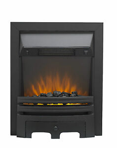 Grace Electric Inset Manual Fire Chrome or Black