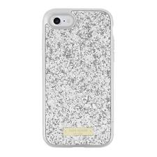 Kate Spade iPhone 7 Case Exposed Glitter Silver