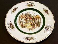 """Vintage English Rural Scenes Wall Plate, Grindley Of Stoke Princess House, 10"""" D"""