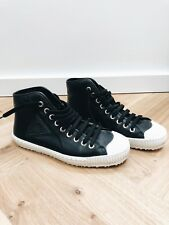 Jimmy Choo black leather men's high top trainers - size 8UK