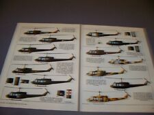 VINTAGE..BELL UH-1 HELICOPTER VARIANT...COLOR PROFILES..RARE! (627J)