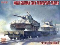 ModelCollect UA72158 1/72 WWII German Tank Transport Trains (Include E75 & E50)