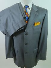 Donald J Trump Signature Collection Wool Gray Striped Men's Suit 42 L 34x31 EUC