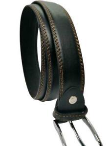Men's Leather Black Belt Trousers Jeans Office Work Big Size Belts Designer Belt