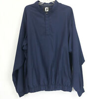 Footjoy Mens XL Golf Jacket 1/4 Snap Pullover Windbreaker Blue Long Sleeve