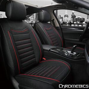 De Luxe Noir Rouge Tissu Doux Siège Avant Housses Set pour Mazda 2 3 6 CX-3 CX-5