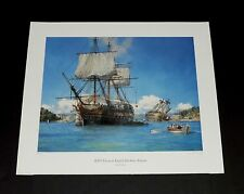 Geoff Hunt - HMS Trusty In English Harbour - Collectible Nautical Maritime Print