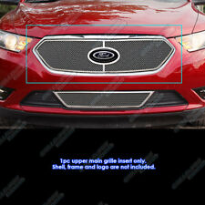 Fits 2013-2018 Ford Taurus With Logo Show Stainless Steel Mesh Grille Inserts
