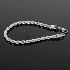"thick STAINLESS STEEL TITANIUM  ITALY ROPE Bracelet 8mm  8"" chain women men"