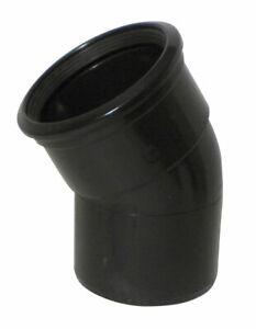 Above Ground Soil System 30 Degree SS Bend (Single Socket) 110mm Black