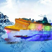 Kids Colorful Ocean Liner Ship Boat Electric Flashing LED Light Sound Toy