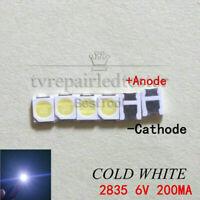 100pcs 2835 3528 6V Lamp Beads 200mA for LED TV Backlight Strip Bar,Repair TV