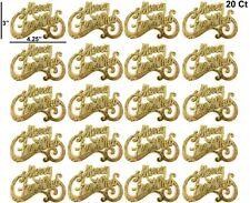 20 Chrismas Decor ations Ornaments Gold Lot Accessories Embellishments Home Tree