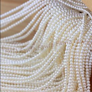 "4-5mm Natural White Freshwater Real Akoya Pearl Loose Beads Strand 15"" AAA"